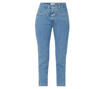 Stone Washed High Rise Jeans