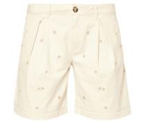 Shorts mit Stern-Stickereien