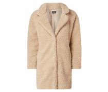 Mantel aus Teddyfell