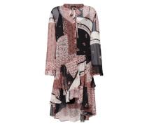 Vokuhila Kleid mit Mustermix