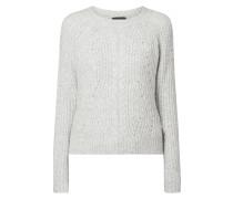 Pullover mit Zopfdetail