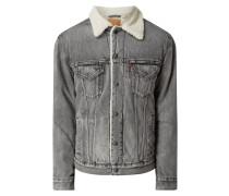 Vintage Fit Sherpa Trucker Jacket aus Baumwolle