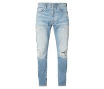 Destroyed Tapered Fit 5-Pocket-Jeans