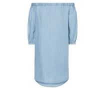 Off Shoulder Kleid in Denimoptik