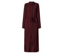 Blusenkleid aus Krepp mit Streifenmuster
