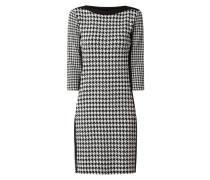 Kleid mit Hahnentritt-Dessin