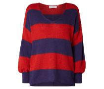 Oversized Pullover mit Blockstreifen