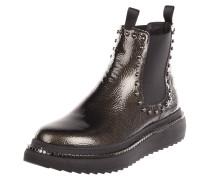 Chelsea Boots aus Leder mit Nieten