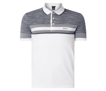 Slim Fit Poloshirt mit Kontrastdetails