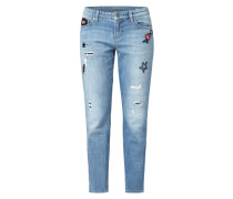 Jeans mit Pailletten-Patches