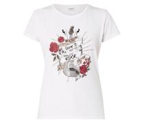 T-Shirt mit Ziersteinbesatz