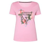 T-Shirt mit Logo aus Ziersteinen