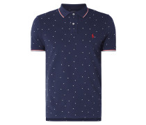Custom Slim Fit Poloshirt mit Allover-Muster