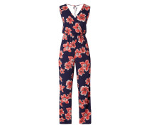 Jumpsuit in Wickel-Optik