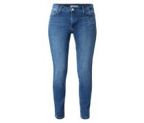 Stone Washed Skinny Jeans mit Kontraststreifen