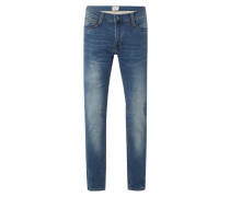 Stone Washed Tapered Fit Jeans