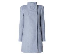Mantel aus Bouclé mit 2-reihiger Druckknopfleiste