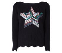Pullover mit Stern-Aufnäher