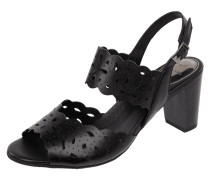 Sandalette aus Leder mit perforiertem Muster