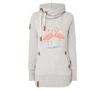 Hoodie mit Flamingo-Print