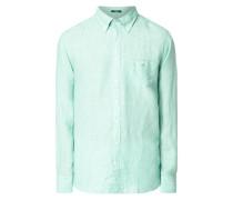 Modern Fit Leinenhemd mit Brusttasche