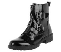 Boots in Lack-Optik mit verstellbaren Riegeln