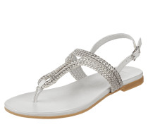 Sandalen mit Riemen in Metallic-Optik