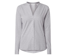 Slim Fit Bluse mit Allover-Muster