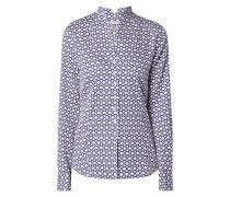 Bluse aus Baumwolle mit Kreismuster