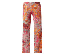 Relaxed Fit Palazzohose aus Krepp Modell 'May_356'