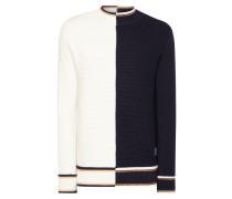 Pullover aus Schurwolle mit Streifendetails