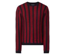 Pullover aus Schurwolle mit Streifenmuster