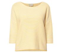 Boxy Fit Strickshirt aus Baumwolle