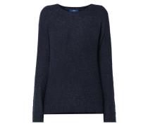 Pullover aus Bouclé mit Raglanärmeln