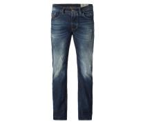 Regular-Straight Fit Jeans im Used Look