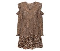 Cold-Shoulder-Kleid mit Leopardenmuster