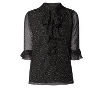 Blusenshirt aus Chiffon mit Schluppe