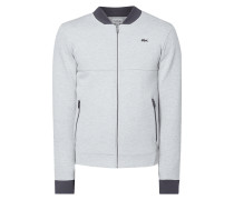 Sweatjacke in Melangeoptik