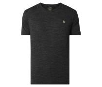 T-Shirt aus Baumwolle mit Logo-Stickerei
