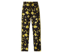 Trackpants mit floralem Muster