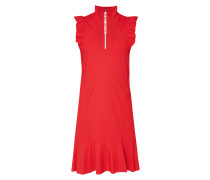 Kleid mit Volantbesatz und Zip-Detail