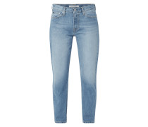 Stone Washed Boyfriend Fit Jeans