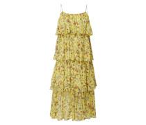 Kleid im Stufen-Look mit floralem Muster