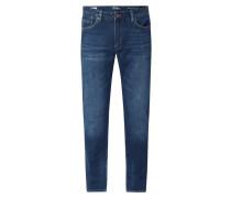 Regular Straight Fit Jeans mit Stretch-Anteil Modell 'York'