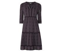 Kleid aus Baumwolle mit Zierborten