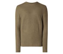 Pullover mit Wollmischung