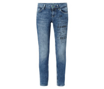 Skinny Fit Jeans mit Message-Print
