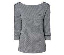 Sweatshirt mit Webmuster