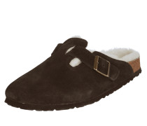 Pantolette 'Boston' aus Veloursleder
