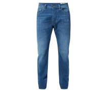 Stone Washed Regular Tapered Fit Jeans